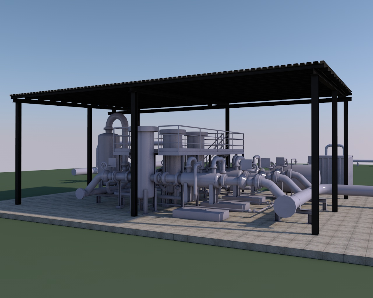 Khoms power plant, Lybia